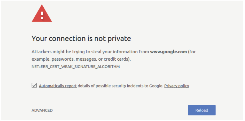 Include SSL Certificate to appear on top of google